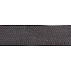 Reel of Organdie Ribbon Code A Black 6mm x 8m