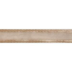 Reel of Organdie Ribbon with Satin Edge Code B Cream 12mm x 5m