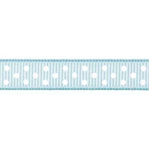 Reel of Grosgrain With Spots Code B Baby Blue 6mm x 5m