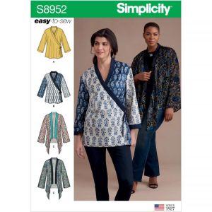 Simplicity Sewing Pattern Misses Kimono Jackets US8952A XXS-XXL