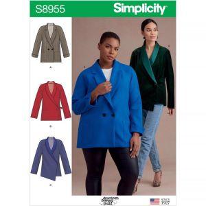 Simplicity Sewing Pattern Misses Raglan Sleeve Jackets US8955BB 20W-28W