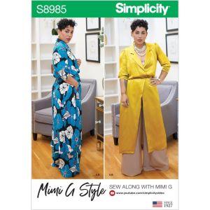 Simplicity Sewing Pattern Misses Womens Mimi G Style Sportswear 8985BB 20W-28W