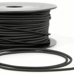 Round Plain Elastic 014 Black 3mm