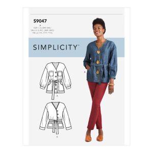 Simplicity Sewing Pattern Misses' Jacket 9047A XXS-XXL