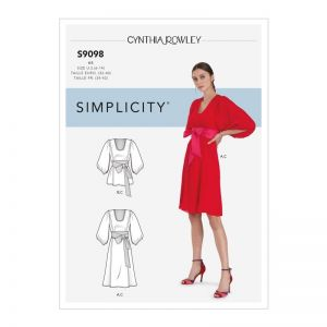 Simplicity Sewing Pattern  Misses' Dress & Top  9098U5 16-24