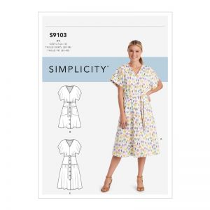 Simplicity Sewing PatternMisses' Dresses  9103D5 4-12