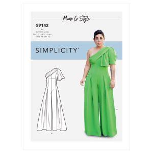 Simplicity Sewing Pattern Misses Jumpsuit 9142H5 6-14