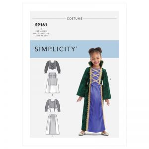 Simplicity Sewing Pattern Childrens Witch Costumes SS9161A Age 3-8
