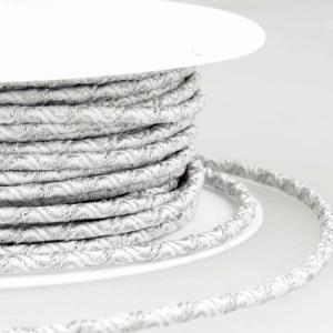 Round Wave Design Elastic 002 White Silver 3mm