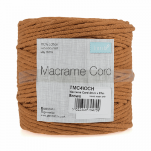 Reel of Macrame Cotton Cord Ochre 87m x 4mm