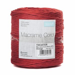 Reel of Macrame Cotton Cord Terracotta 4mm x 87m