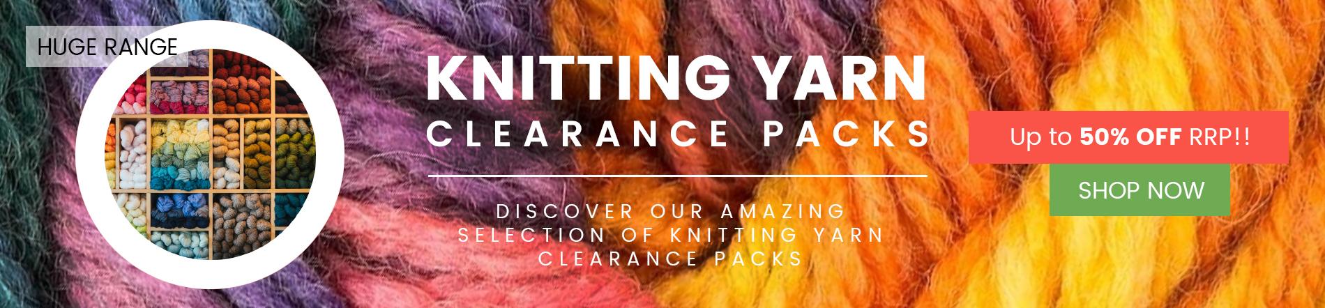 Knitting Yarn Clearance Packs